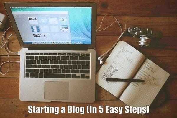 Starting a Blog (In 5 Easy Steps)